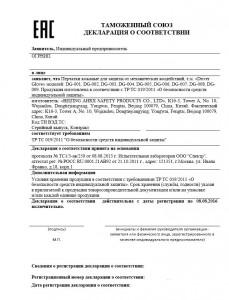 Образец декларации соответствия по ТР ТС 019/2011